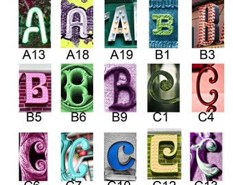 A thru L list of Color Letters
