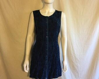 Closing Shop SALE 90s grunge boho gypsy blue rayon dress