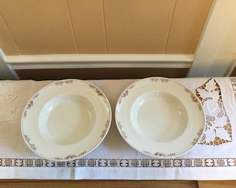 Syracuse china serving bowls, set of two, 1981 pattern, veggie bowls