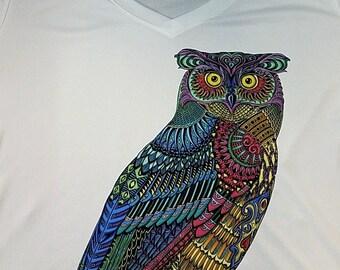 Owl (DTG Printing, V-Neck)