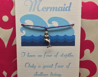 Mermaid Wish Bracelet~ Free Custom Card for Bulk Orders!