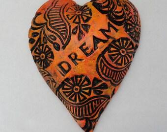 Ceramic DREAM Affirmation Heart Valentine