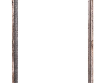 """22x28 –2"""" wide Barnwood Reclaimed Wood Open Frame (No Glass or Back)"""