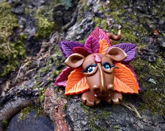 Polymer Clay Dragon 'LEAFY' - Limited Edition Collectible from the Seasons Series