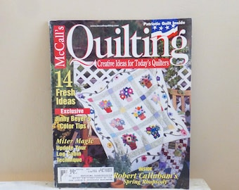 McCall's Quilting, April 2001, Quilting Magazines, quilt patterns, pattern magazine, vintage magazine, craft patterns, sewing, quilting