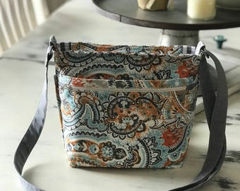 Everyday bag, cross body purse, phone pockets, cool modern purse, adjustable strap