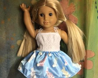 American Girl Adorable Easter Bunny Halter Dress