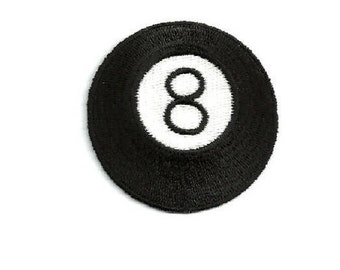 Billards - Pool - 8 Ball - Embroidered Iron On Patch
