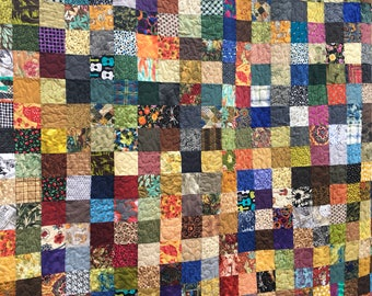 Fall Colors Queen Patchwork Quilts - Country Quilts - Utility Quilts- Quilts for Queen Bed - 11