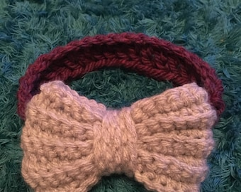 Big bow crochet headband