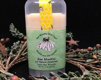 Bee Mindful Deodorant, Paraben Free Deodorant, Aluminum Free Deodorant, Beeswax Deodorant, Into The Woods Deodorant, Woodsy Scent Deodorant