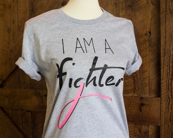 I am a fighter t-shirt - cancer awareness tee FREE SHIPPING