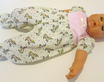 "Baby Annabelle Clothes*18 "" Baby Doll* Reborn Baby Doll*Romper Playsuit*Unicorn Print"