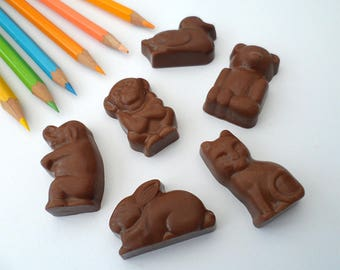 Chocolate Animals Pack, Chocolate Party Favours, Party Bag Fillers, Kids Goodie Bag, Belgian Chocolate Gift, Advent Calendar Filler