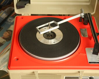 Working General Electric, Solid State, Record Player,  Vintage, Portable,  Portable Stereo Sound System,  1970's