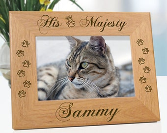 His Majesty Cat Picture Frame