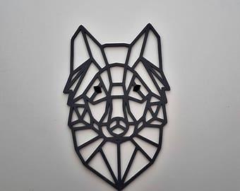 Geometric Wolf wall decor