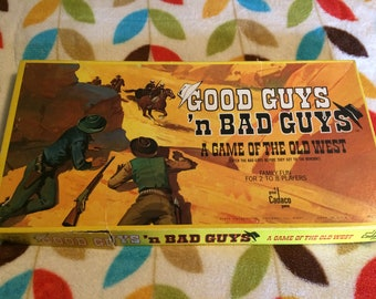1973 Good Guys'n Bad Guys a Game of the Old West by Cadaco Inc.