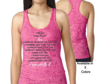 I Did Not Wake Up Like This Workout Tank, Weight Lifting Tank, Burnout Tank, Workout Tank