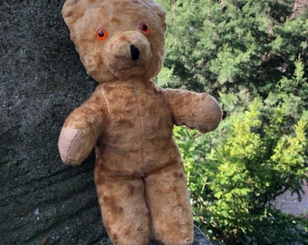 English Vintage Stuffed Teddy Bear circa 1950s