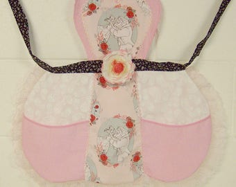 Beauty and the Beast Apron / Pink Beauty and the Beast Apron / Girls Apron / Bell Birthday Party /  Girls gift  Size 5/6 / #B86