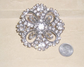 Vintage Juliana Clear Crystal Rhinestone Brooch 1950's Jewelry 8026