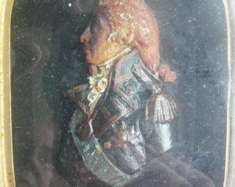 scarce large antique early 19th century wax portrait vice admiral horatio nelson