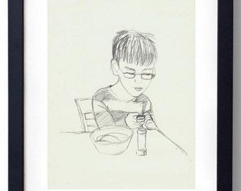 Drawing,Quick Sketch, Custom Portrait,Illustration, Illustration custom portrait ,custom Portrait , Portrait ,Portrait drawing