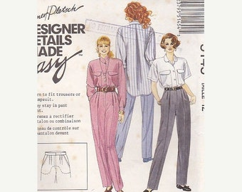 ON SALE On Sale - 1990s McCalls Palmer Pletsch Blouse, Trouser, Jumpsuit  Dress Pattern No 5145 Size 12  34  inch bust, Uncut, Factory Folde