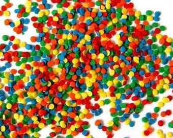 Confetti Sprinkles 4oz-Bright, Primal, Multi-colored Sequin Quins