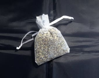 Lavender tulle adorned with little hearts bag