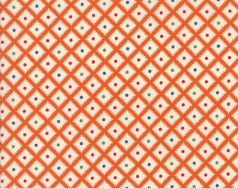 Hop, Skip, and a Jump!, 21708-11 orange geometric, by American Jane for moda fabrics