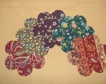 "Applique Handmade Flower - 4 1/4 x 4 1/4"" - Set of 5 - Iron on Sew on"