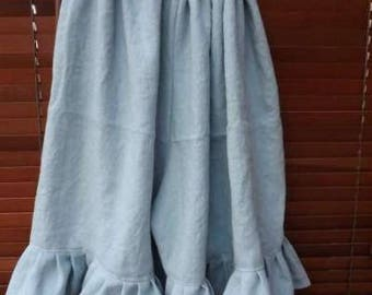 OSFA RitaNoTiara bermuda shorts pants bloomers cropped trousers quirky Lagenlook festival teal blue European Linen made to order boho chic