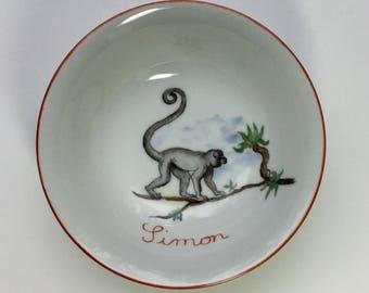 Porcelain dish kids APE, Savannah animals service