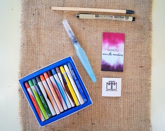 Watercolor Paint Set - Bible Journaling - Watercolor Paint - Crayon Style