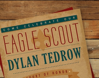 Eagle Scout  Invitation for Court of Honor/ Subway Art
