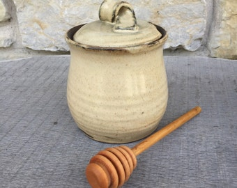 Honey Pot, honeypot handmade pottery honey jar