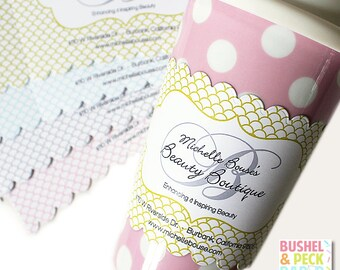 Custom Cup Sleeves - Scallop Pattern