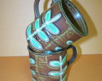 Retro Pottery Mugs Vintage Coffee Mugs Japan