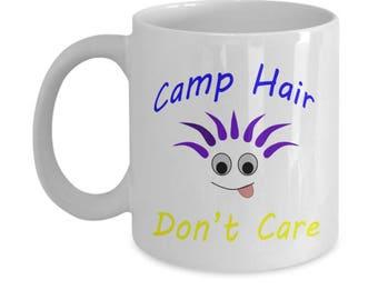 Camp Hair Don't Care Mug Funny Camping Mug Funny mug