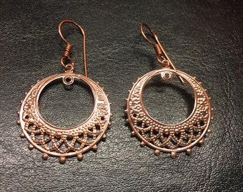 Rose Gold Fish Hook Earrings