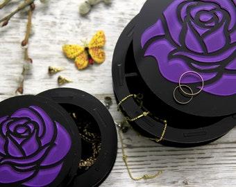 Casket for jewelry. Jewelry box.Handmade jewelry box