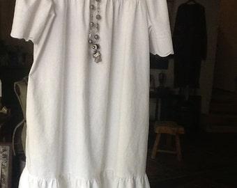 Vintage White Cotton Dress