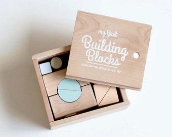 Wooden Building Blocks - Blocks Set - Wooden blocks - Bloques de Madera- Wooden Toys- Handcrafted Toys