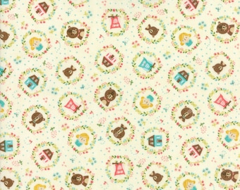 Home Sweet Home Fabric #20573-11 Stacy Ies Hsu, Moda Fabrics, Goldilocks and the 3 bears, Juvenile fabric, Baby Quilt, Baby Shower, IN STOCK