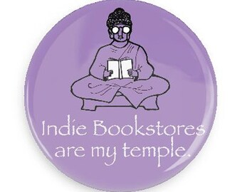 Cute Magnet, Funny Gift Funny Fridge Magnet for the Indie Book Lover, Gift for Indie BookStore Lover