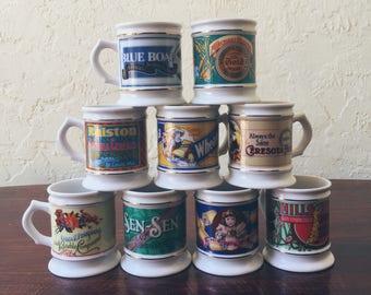 The Corner Store Porcelain Mugs (Set of 9)