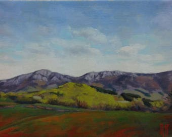 Old mountain  original oil painting