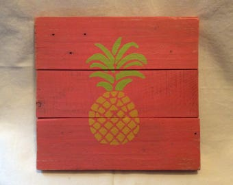 Pineapple pattern coral solid wood frame